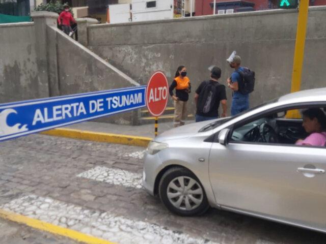 Miraflores: cierran circuito de playas de la Costa Verde ante alerta de tsunami