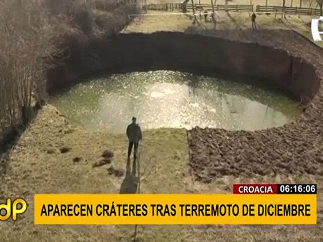 Croacia: aparece un centenar de cráteres tras sufrir dos terremotos
