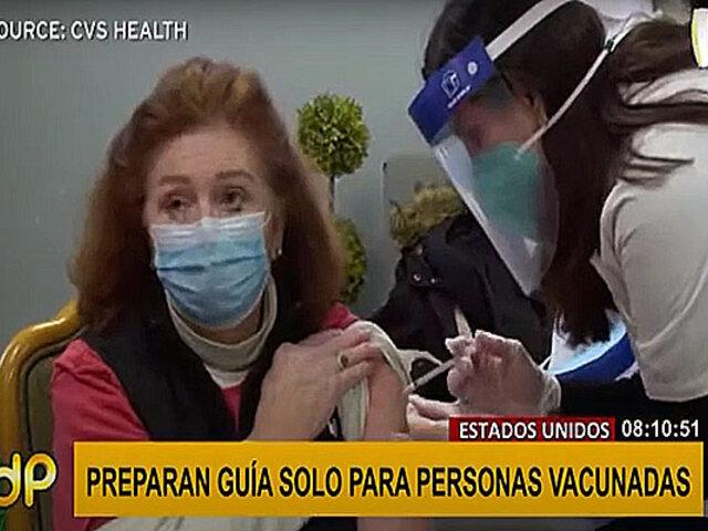 EEUU: preparan guía con recomendaciones para personas vacunadas