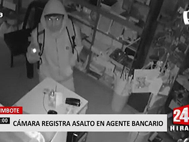 Chimbote: en 5 minutos roban dos cajas registradoras de un agente bancario