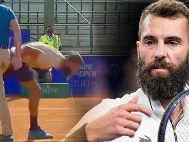Argentina Open: tenista francés escupió, insultó y se dejó ganar