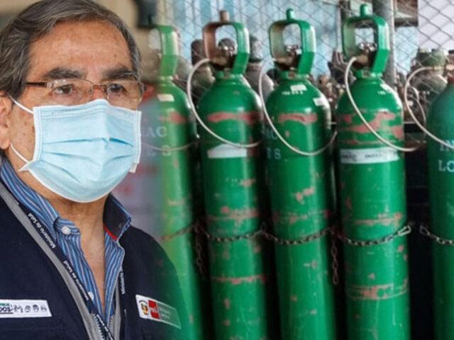 Ministro Ugarte: Se cancela contrato con la UNI para adquisición de 47 plantas de oxígeno