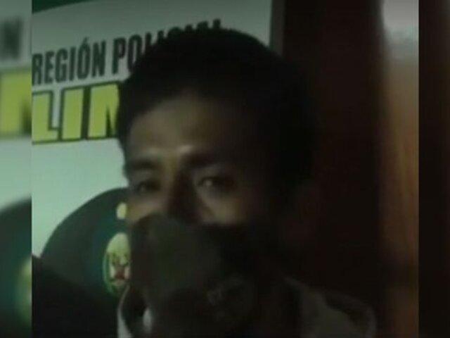 Rímac: capturan a ladrón que aparece en TikTok en la Panamericana Norte