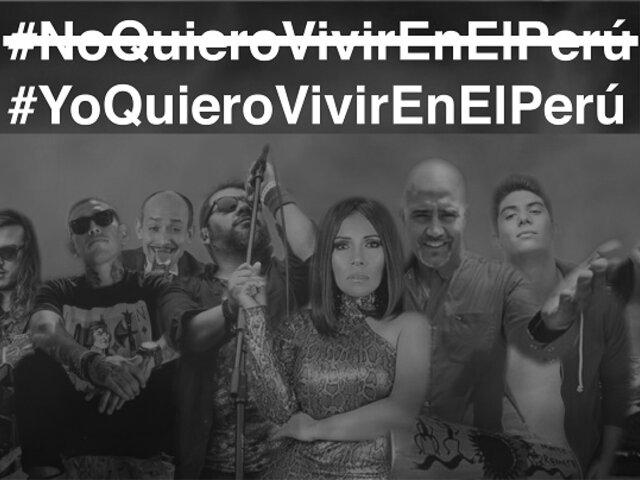 """Reconocidos cantantes lanzan video """"Yo quiero vivir en el Perú"""" por un voto informado"""