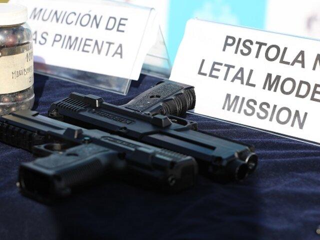 Municipalidad de Lima donó armas no letales al INPE