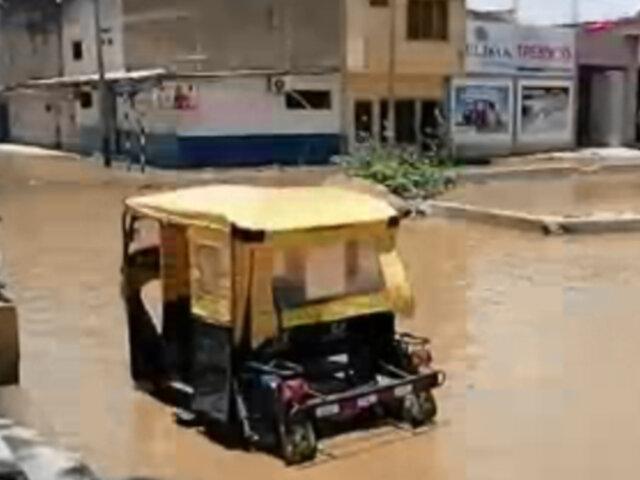 Lluvias torrenciales inundaron las calles de la región Tumbes, Piura y San Martín