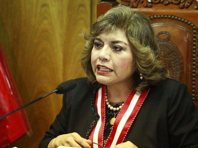 """Zoraida Ávalos advierte que Congreso busca su """"separación del cargo"""""""