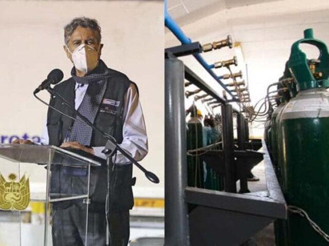 Presidente Sagasti: Próxima semana llega nueva provisión de oxígeno para hospitales de la selva
