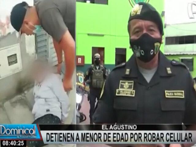 El Agustino: capturan a menor de edad acusado de robar celular a un transeúnte