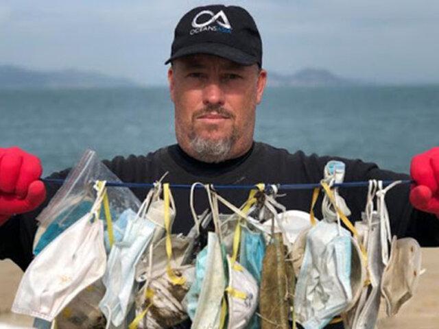 Otra consecuencia del Covid-19: millones de mascarillas contaminan los mares