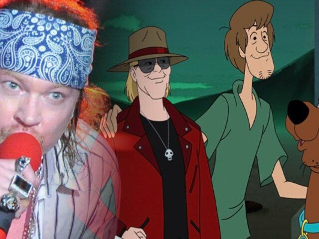 Axl Rose de Guns N' Roses se une a Scooby-Doo