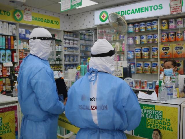 Indecopi fiscaliza farmacias, venta de alcohol y oxígeno durante la emergencia sanitaria