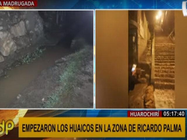 Huarochirí: desborde de canal de regadío provocó huaico y afectó al menos tres viviendas