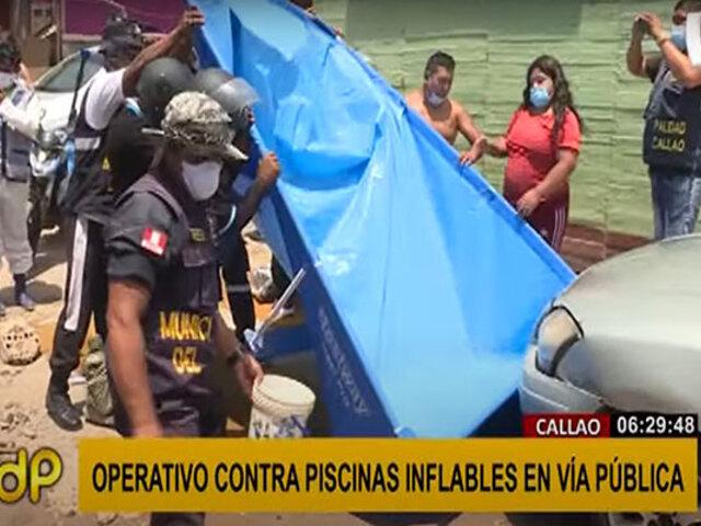 Callao: vecinos critican operativo que busca erradicar uso de piscinas en la vía pública