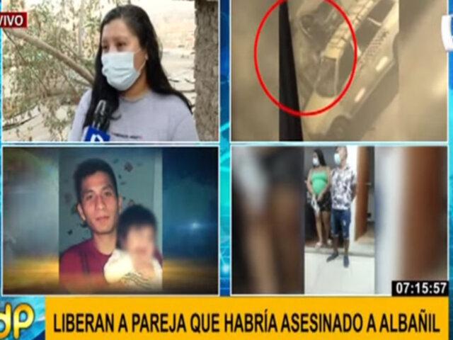 Liberan a pareja captada dejando cadáver de albañil en una calle de Independencia