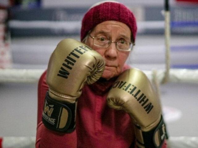 Conoce a la anciana boxeadora que practica deporte para frenar el avance del Parkinson