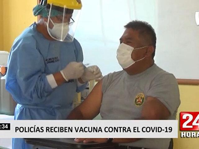 Cañete: inician vacunación a miembros de la Policía Nacional del Perú