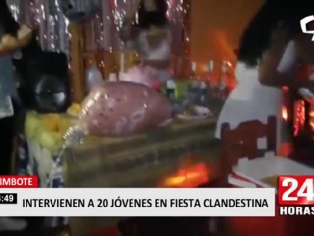 Chimbote: intervienen a 20 jóvenes en fiesta clandestina