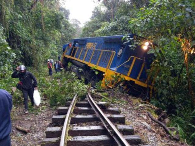 Cusco: tren con pasajeros se descarrila cerca de Machu Picchu tras caída de piedras