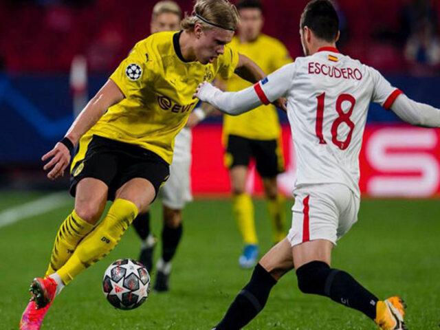 Con doblete de Haaland: Borussia Dortmund eliminó a Sevilla de la Champions League