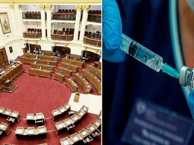 Vacunagate: Pleno evaluará este jueves informe final de Comisión investigadora