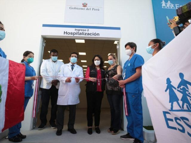 Essalud: Inauguran Villa Rebagliati con 152 camas para pacientes con COVID-19