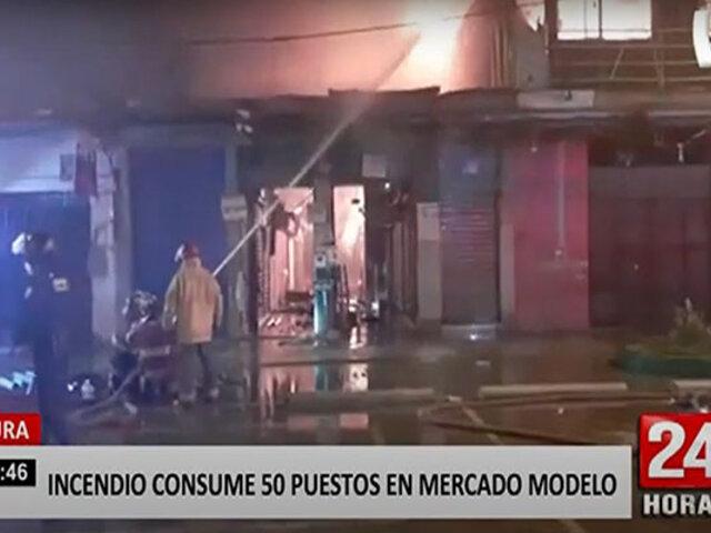 Voraz incendio en mercado de Piura se habría originado por un cortocircuito