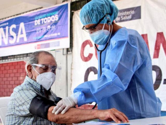 Minsa: contagios por covid-19 han disminuido en 15 regiones durante las últimas semanas
