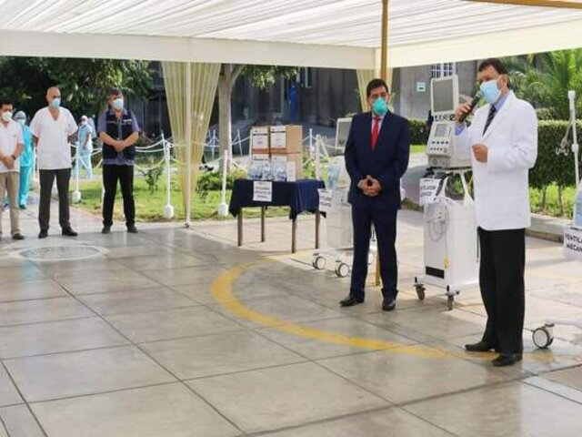 Clínica La Luz otorgó en calidad de cesión ventiladores mecánicos al hospital Loayza