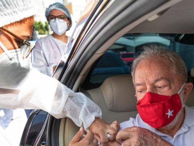 Brasil: Lula da Silva se vacuna contra el covid-19 y hace un llamado a inmunizarse