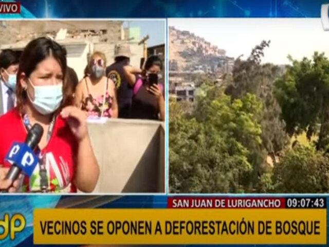 Protesta en SJL: vecinos en contra de deforestación de bosque de más de 80 años