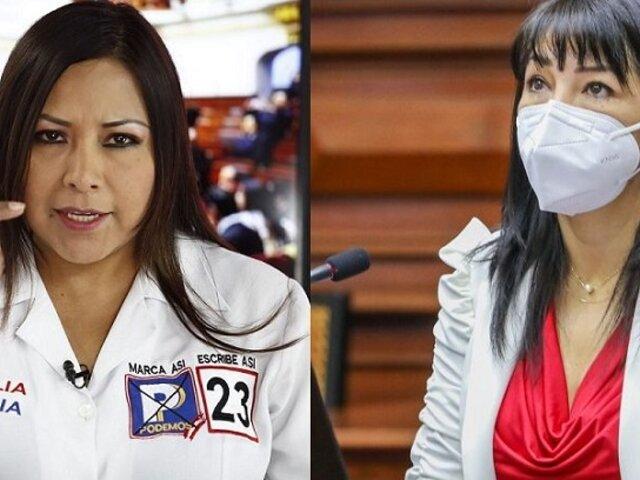Comisión de Ética apueba investigar a Cecilia García por agresiones verbales contra Mirtha Vásquez