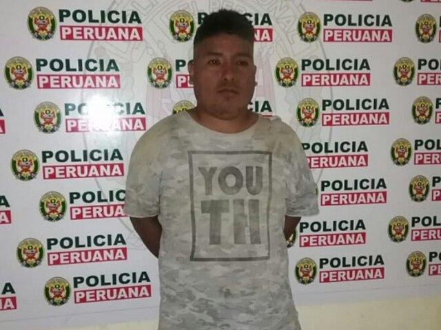 Trujillo: Cae sujeto que atacó a balazos a una pareja en El Milagro