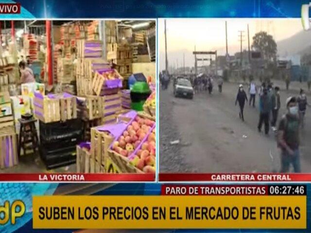 Precio de frutas se dispara tras paro de transportistas
