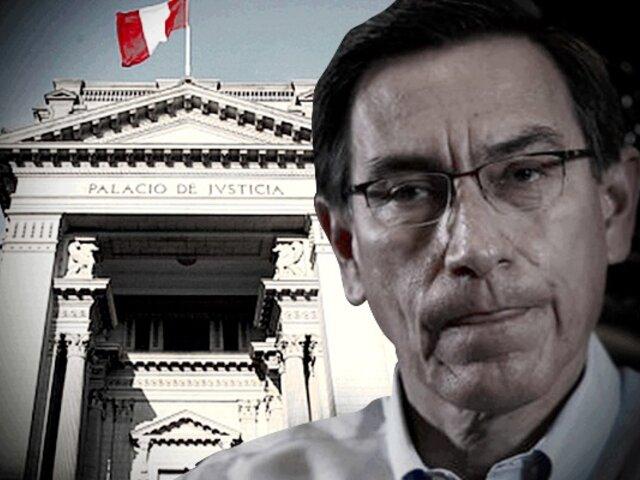 Martín Vizcarra: PJ evalúa 18 meses de prisión preventiva para expresidente