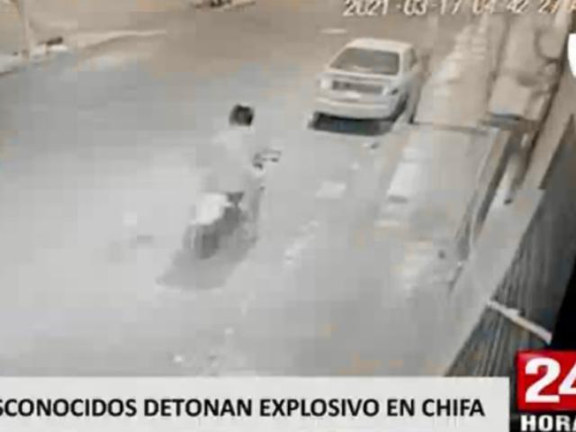 Huacho: delincuentes desatan pánico tras detonar explosivo en puerta de chifa