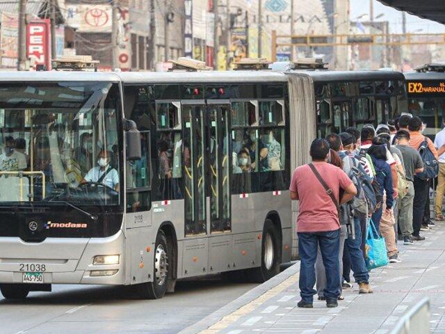 Cercado de Lima: buses del Metropolitano desvían su recorrido habitual ante protestas