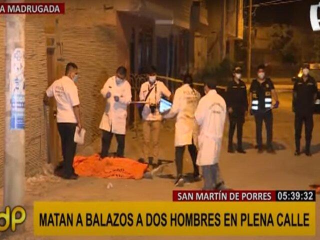 SMP: asesinan a dos hombres a balazos en plena calle