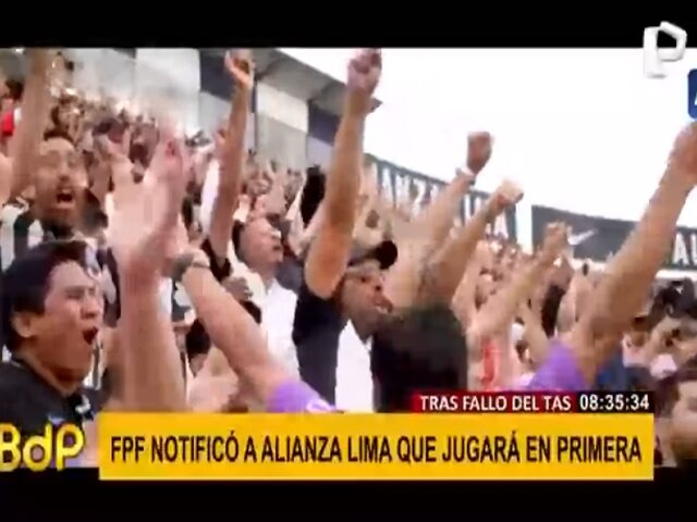 Alianza Lima jugará en primera: decisión del TAS es inapelable