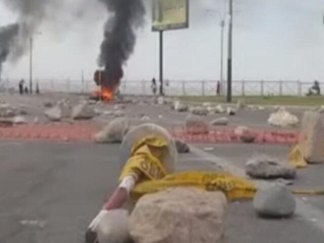 Paro de transportistas: ciudadanos bloquearon principales vías en Tacna