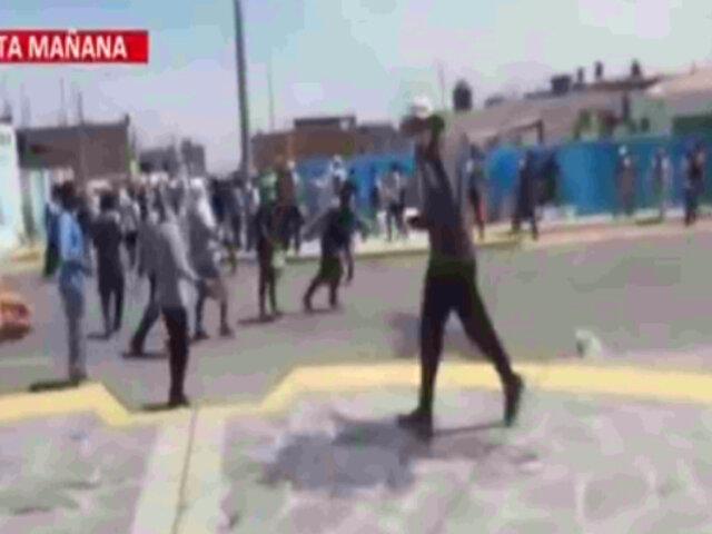 Paro de transportistas: manifestantes lanzaron piedras y quemaron vehículos por bloqueo de carretera