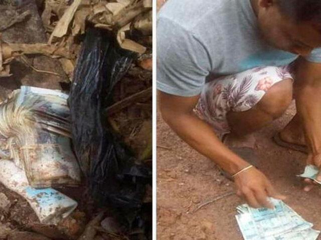 San Martín: sujeto logró recuperar dinero que arrojó por error a un tacho de basura