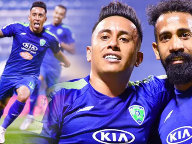 "Christian Cueva: Con doblete de ""Aladino"" el Al Fateh goleó 4-1 a Al Ahli SC"