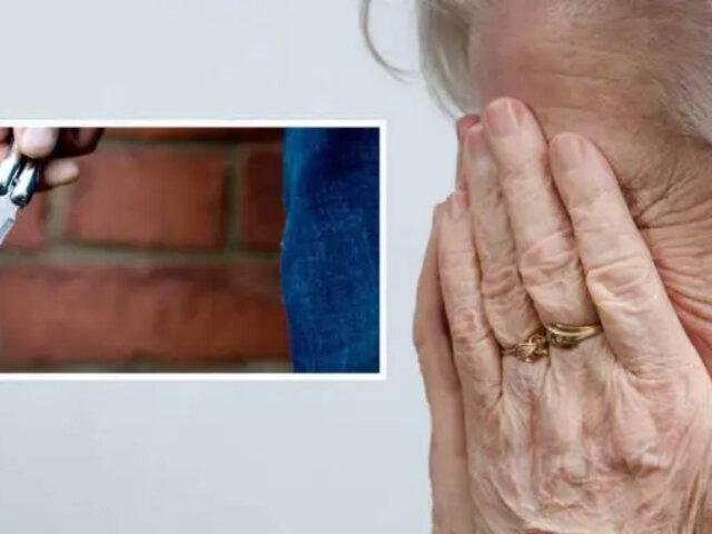 Anciana le prendió fuego a su hijo luego de que este intentara ultrajarla