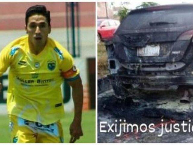 Incendian vehículo de Josimar Vargas, jugador de Carlos Stein
