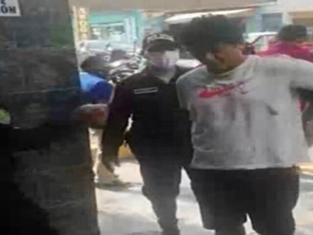 SJL: PNP capturó a banda de extorsionadores con armas de largo alcance