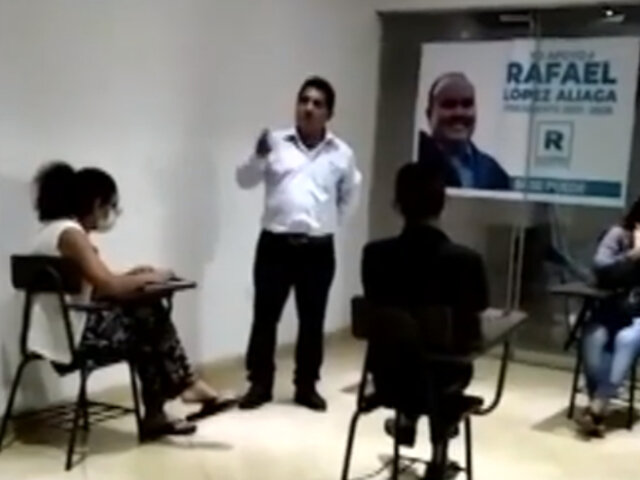 Facción del APRA respalda candidatura de Rafael López Aliaga