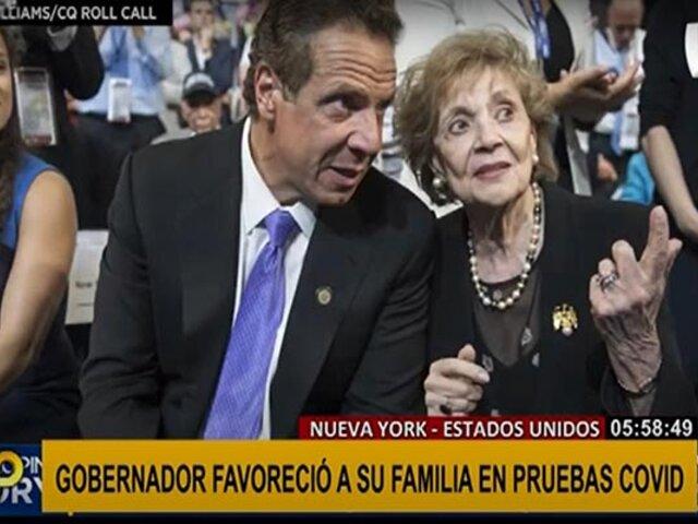 Gobernador de Nueva York es acusado de favorecer a su familia con pruebas COVID-19