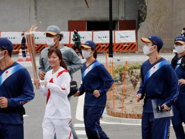 Antorcha de juegos olímpicos arrancó con relevo burbuja en Fukushima
