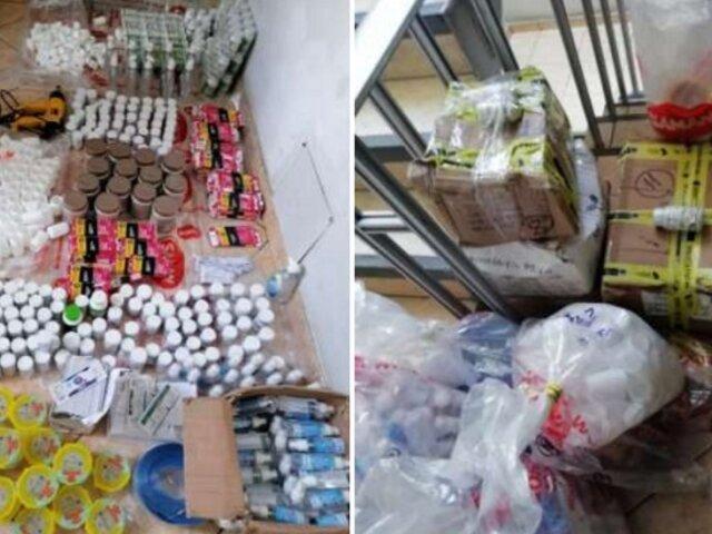 Los Olivos: intervienen local que comercializaba productos ilegales para adelgazar